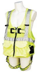 Class II Fall Protection Vests with Integrated Harness