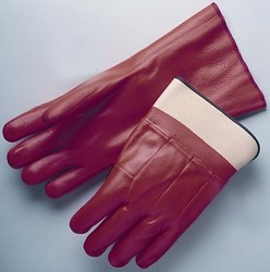 Fluorescent PVC-Coated Gloves