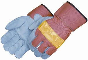 Split Cowhide Leather Palm Gloves with 3M™ Reflective Back