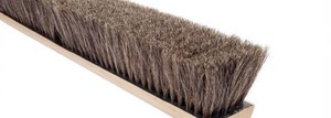 100% Grey Horsehair Floor Brush